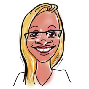 Caricature of Jenny Heath, Kingsley Roofing admin team