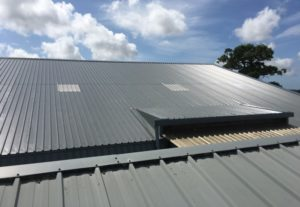 Reroofing cladding industrial sheeting