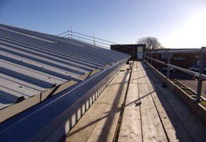 Trimline gutter refurbishment with sheeting